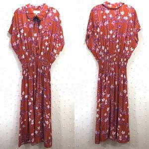 Anthropologie Corey Lynn Calter Floral Dress Sz L